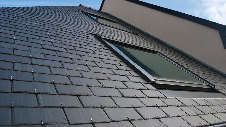 House with a slate roof
