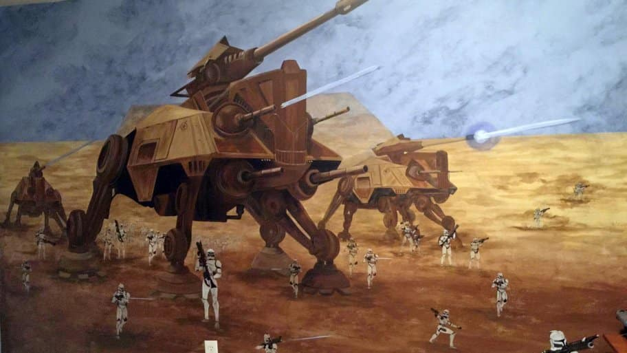 Star Wars wall mural battlefield