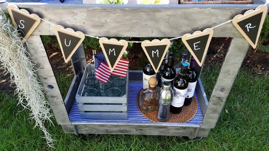 DIY drink cart
