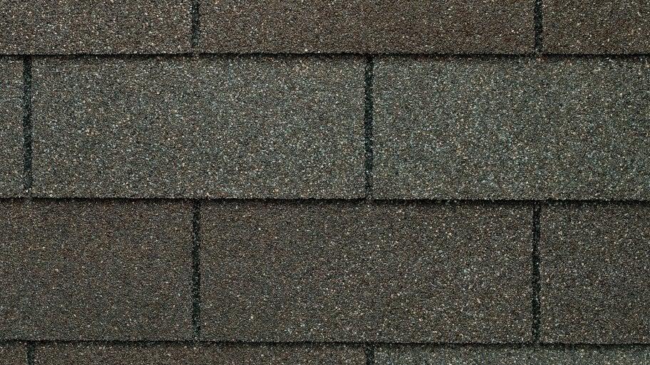 weathered gray asphalt shingles