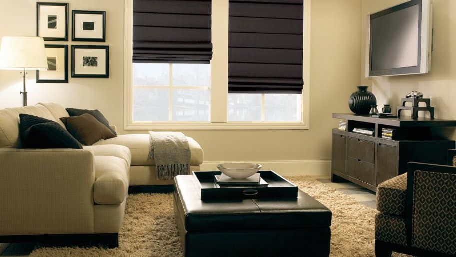Roman shades window treatments