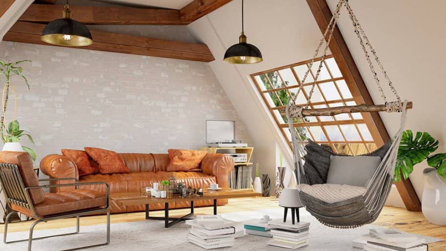 Bright finished attic space with comfortable seating (Photo by asbe/E+/Getty Images)