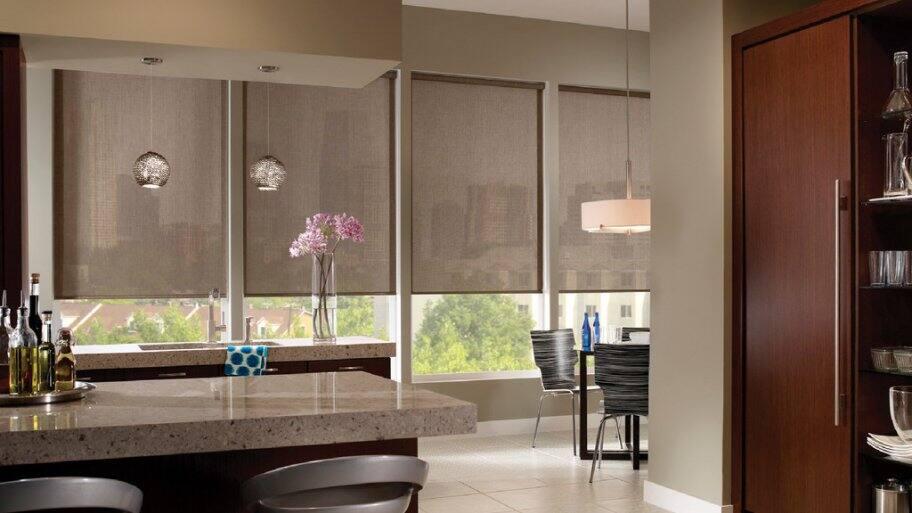 solar shades on south facing windows