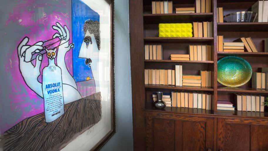 Kurt Vonnegut artwork at 2017 Decorators' Show House