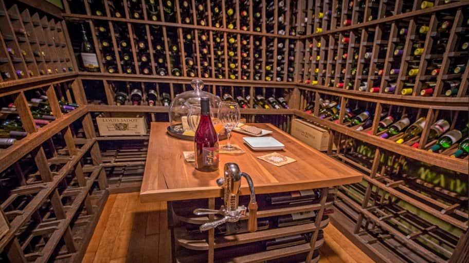 2017 Decorators' Show House wine tasting room by Bob Mead Interiors