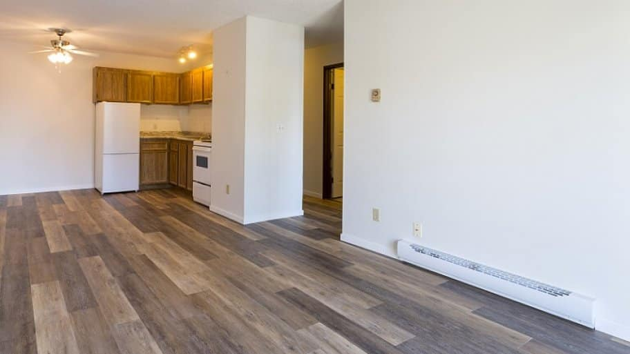 baseboard heaters in empty new apartment