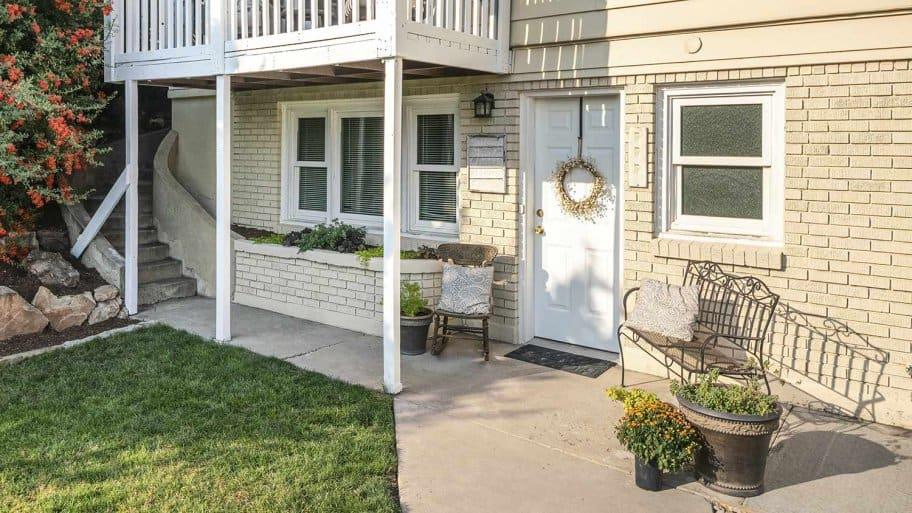 Basement door and patio