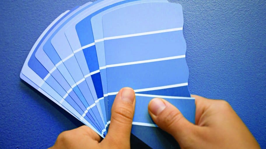 blue paint swatches