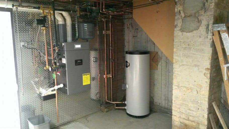 Burnham Alpine boiler in home basement