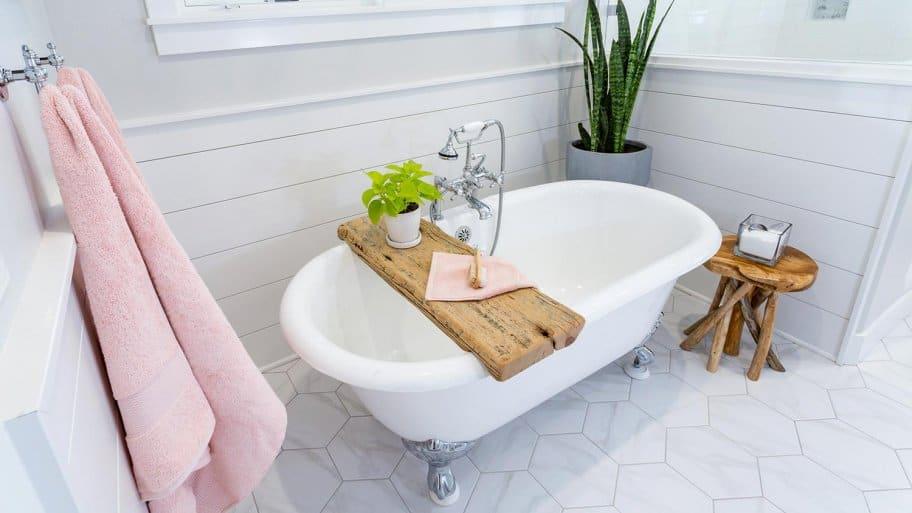 Refinished clawfoot bath tub