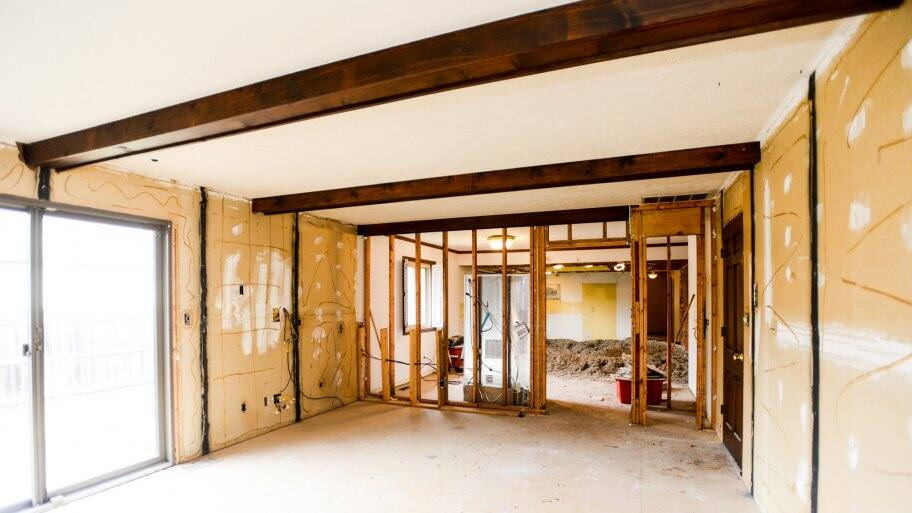 room under construction for remodel