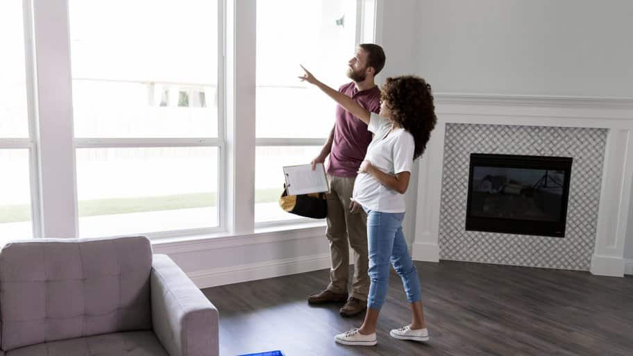 Contractor discusses with homeowner