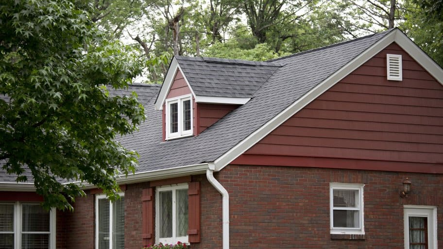 asphat roofing with steep pitch and dormers