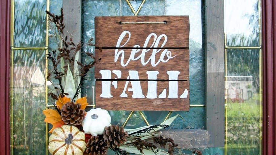 DIY fall wood sign
