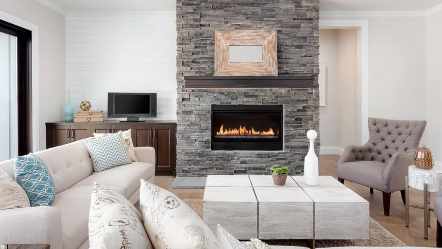 Fireplace in luxury home