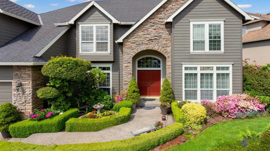 beautiful home front yard landscaping