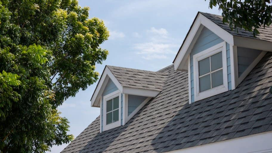 dark gray shingles on top of house with tree (Photo by Rattanachat - stock.adobe.com)