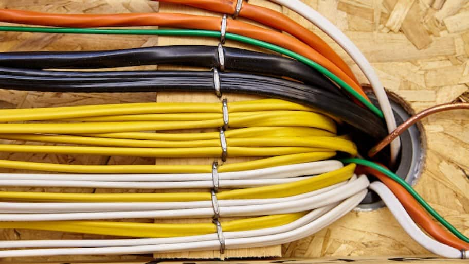 multi-colored electrical circuit wiring