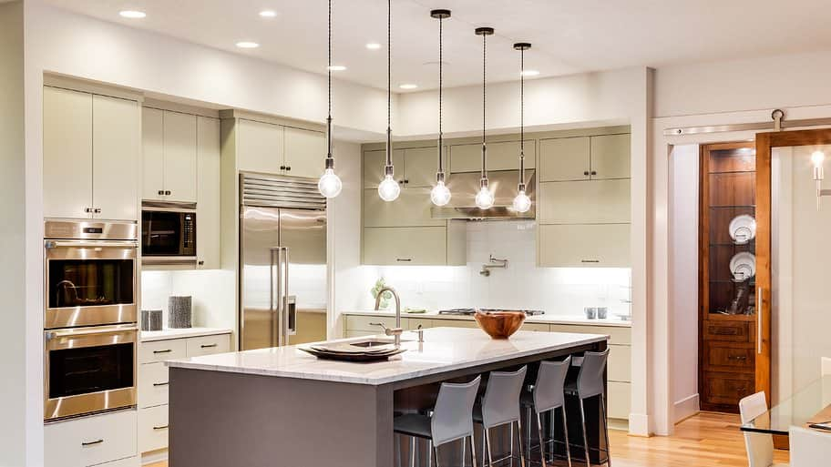 kitchen island with pendant lights