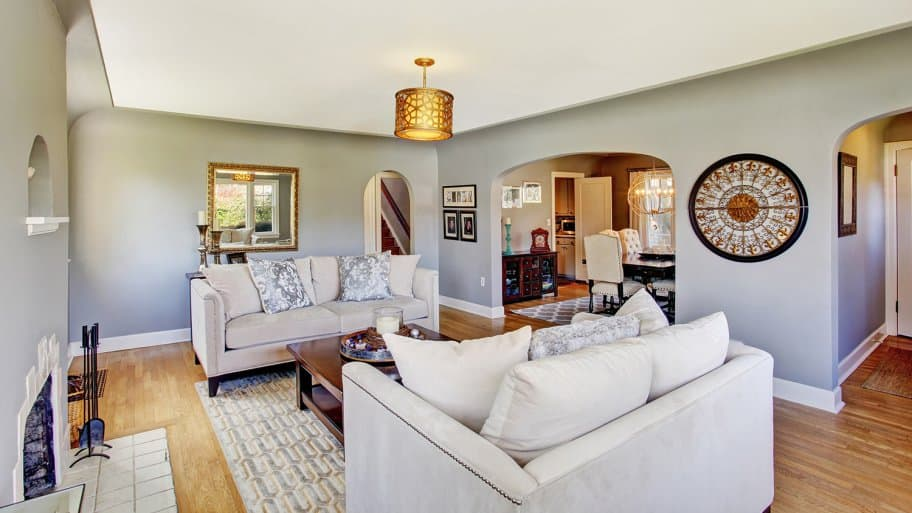 Historic home with plaster walls
