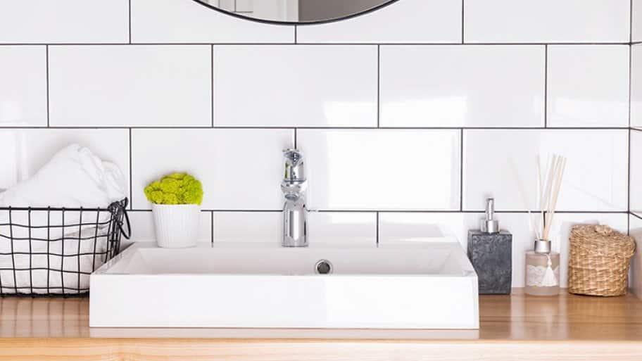 Detail of a modern bathroom