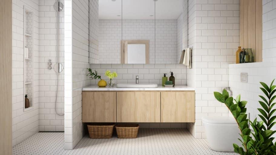 The interior of a modern bathroom (Photo by CreativaStudio/E+ via Getty Images)