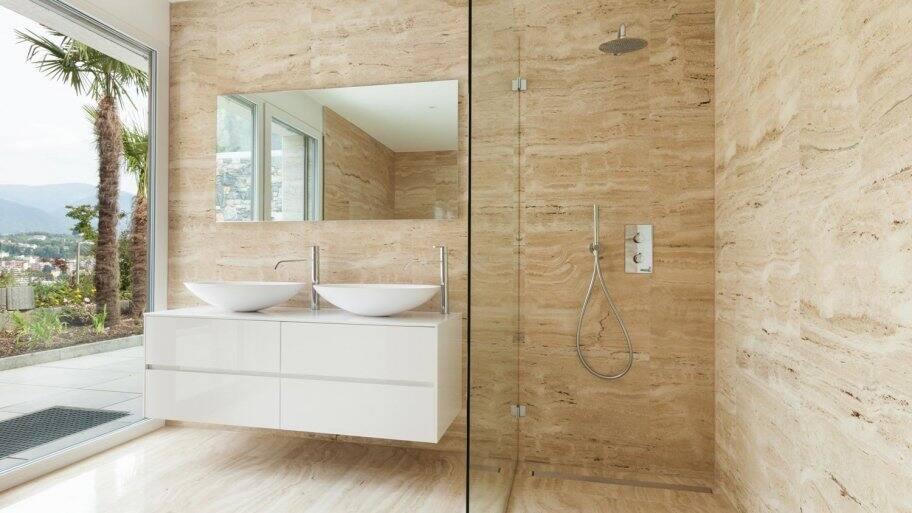 The interior of a modern minimal bathroom (Photo by alexandre zveiger - stock.adobe.com)