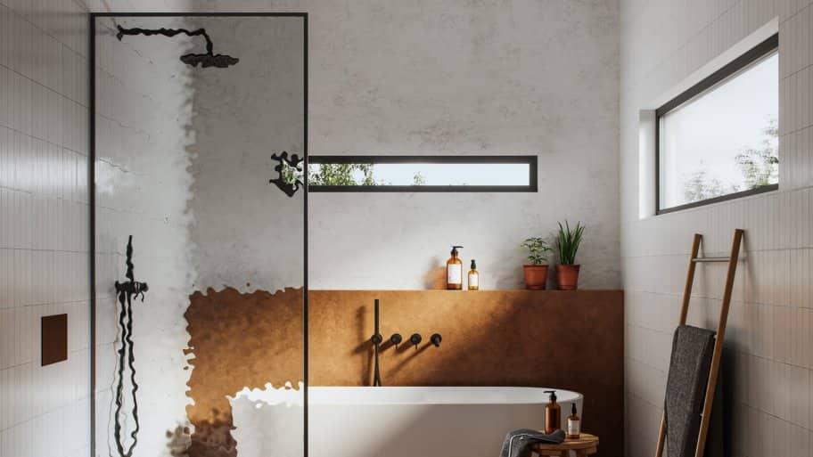 A modern bathroom having both a shower and a bathtub (Photo by alvarez/E+ via Getty Images)