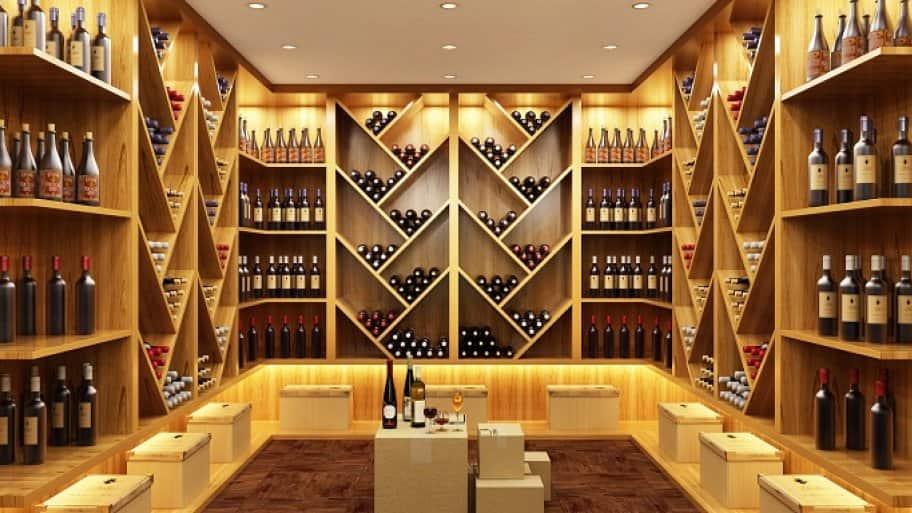 Modern wine vault
