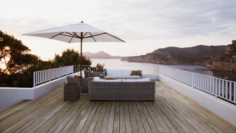 Modern wood deck