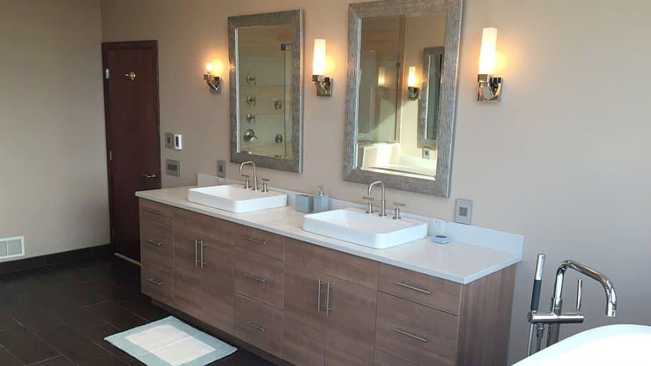 neutral bathroom remodel
