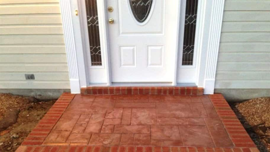 Rechtenbaugh hired Johnson's Brick Repair to replace the brick foundation on his front door's step-off pad. (Photo courtesy of Brian Rechtenbaugh)