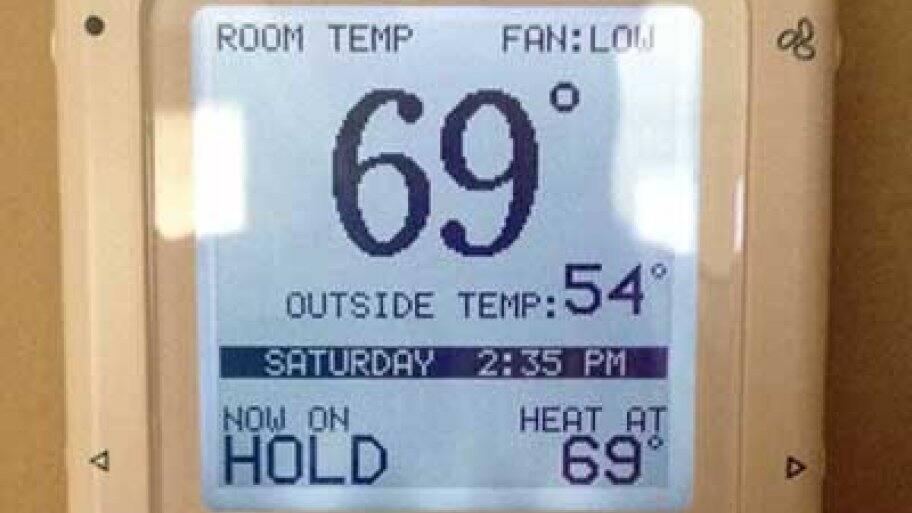 A programmable thermostat can help cut costs on monthly utility bills, as it can help control the temperature while you're away. (Photo courtesy of Angie's List member Bill K.)