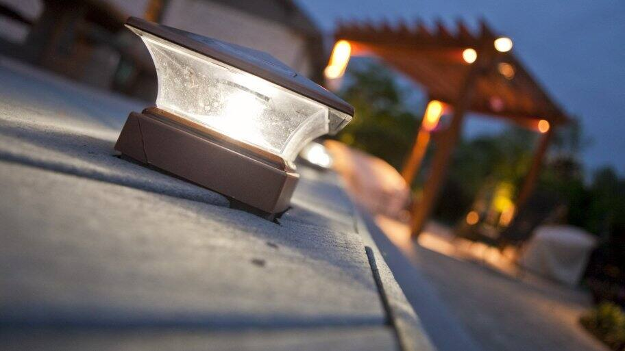 LED lights outside on deck (Photo by Brandon Smith)