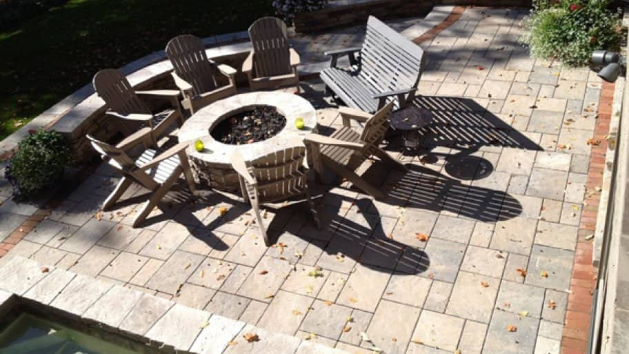You can install driveway or patio pavers, use them as a walkway or put them around the pool, says Wood. (Photo courtesy of Angie's List member Carole K. of Columbus, Ohio)