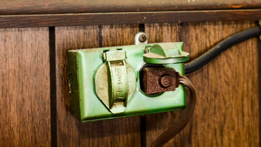 old electrical outlet
