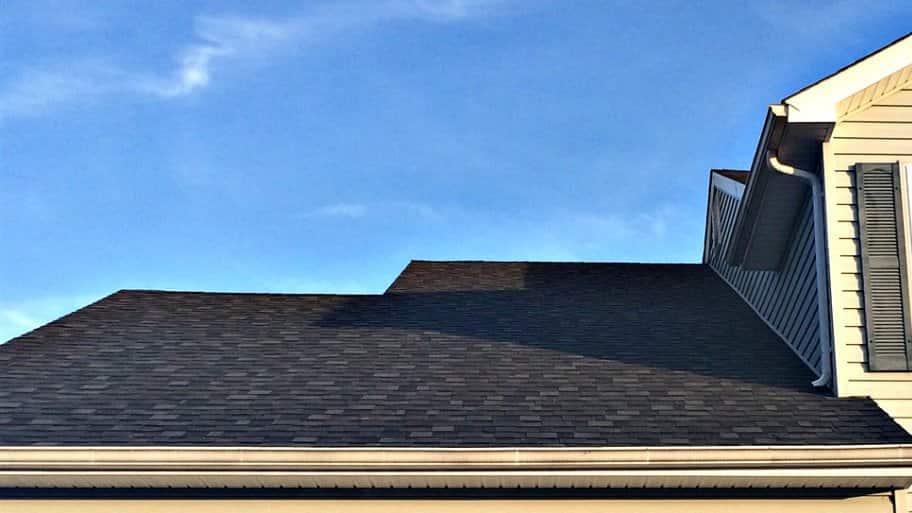 newly shingled roof on house