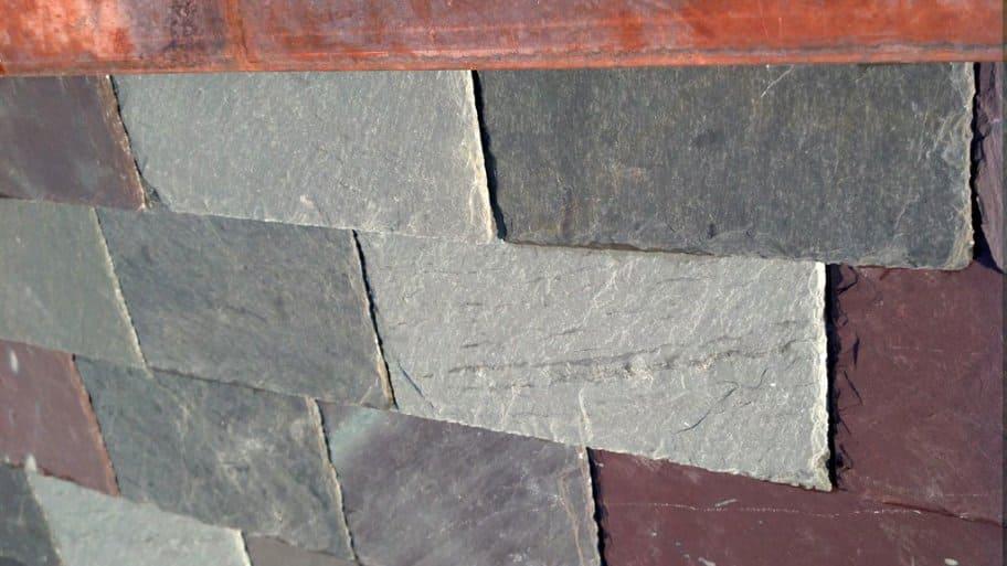 A slate tile roof