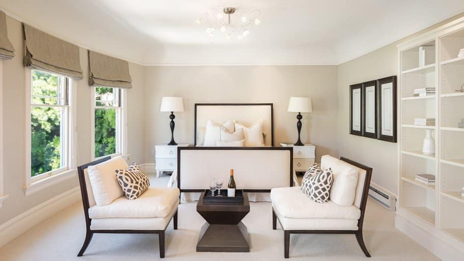 Perfectly staged bedroom