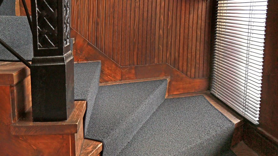 carpet stair tread on stairs