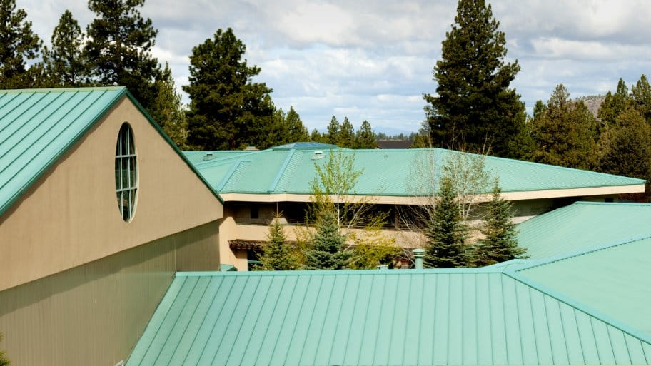 Large Green Metal Roof
