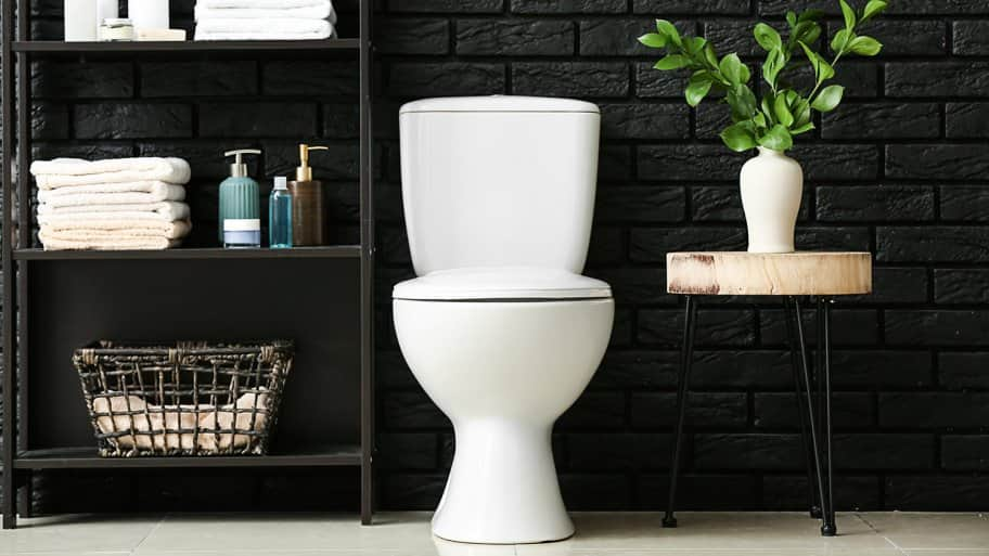Modern bathroom with toilet
