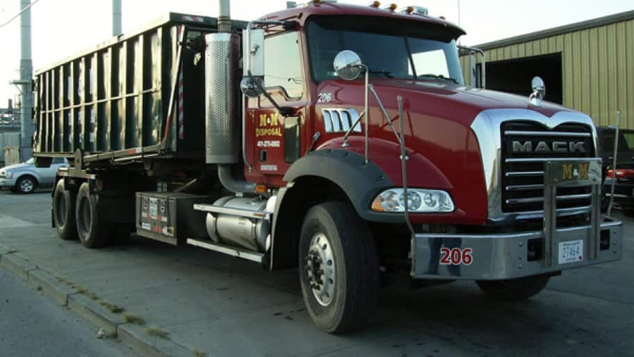 Hauling and trash removal services are normally booked two to three days ahead, so plan ahead when scheduling your service, says Macera. (Photo courtesy of M & M Disposal)