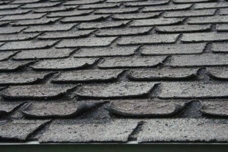 curling asphalt shingles
