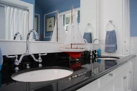 kids bathroom sink with decoration