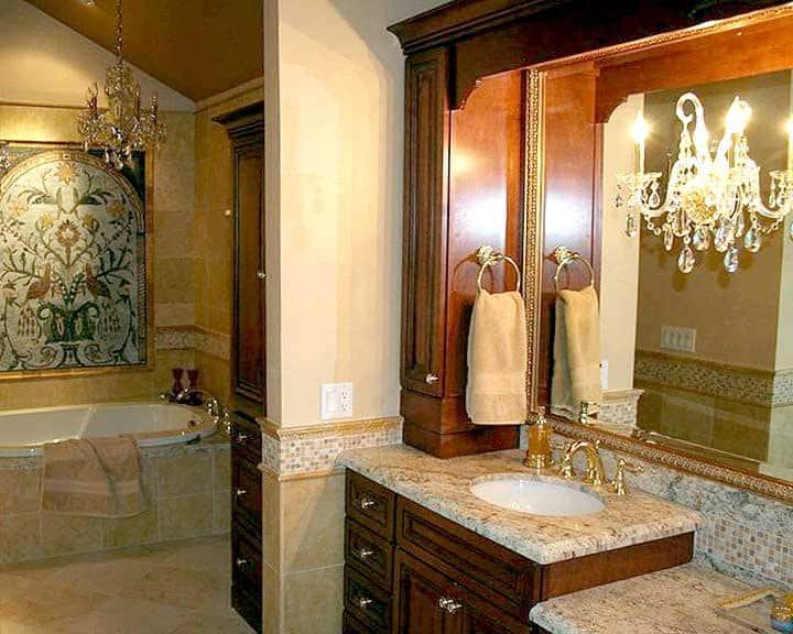 high-end bathroom remodel