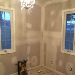 walls with drywall patched