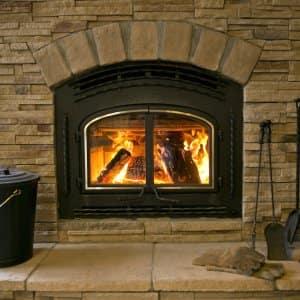 woodburning fireplace stone surround metal insert fireplace accessories