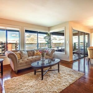 home staged living room