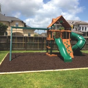 The Swingset Guys not only installs swingsets from retail manufacturers, but builds custom sets as well. (Photo courtesy of Gabriel Millan)